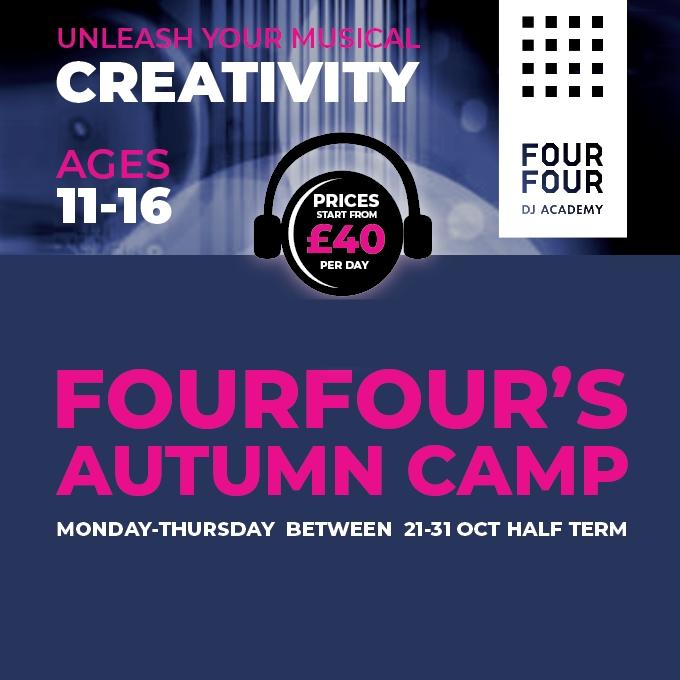 Autumn Half Term – Nottingham DJ Camp Oct' 2019